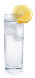 a 12-ounce glass of water